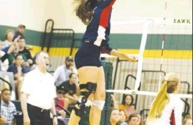Volleyball on top of district standings